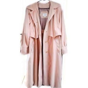 Valerie Stevens II Microfiber Pink Trench Coat